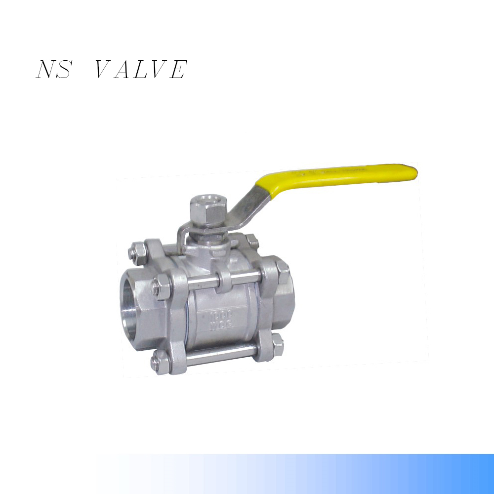 SS304 cf8 three -piece ball valve (3P) SW ENDS