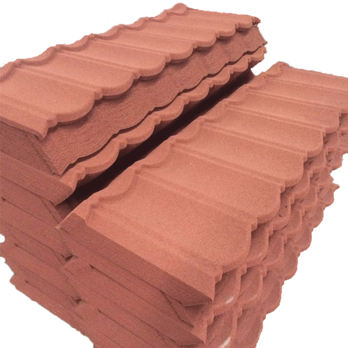 Easy for Maintenance metallic roof tile, stone chip coated metal roofing