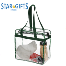 Wholesale Custom Fashionable Clear Tote Bags Waterproof PVC Handbag Tote Bags