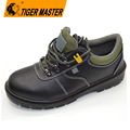 Genuine leather PU injection industrial safety shoes