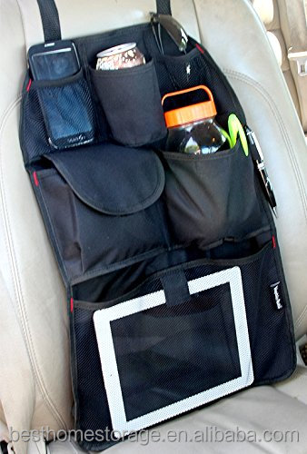 car auto front or back seat organizer holder multi pocket travel storage bag black color buy. Black Bedroom Furniture Sets. Home Design Ideas