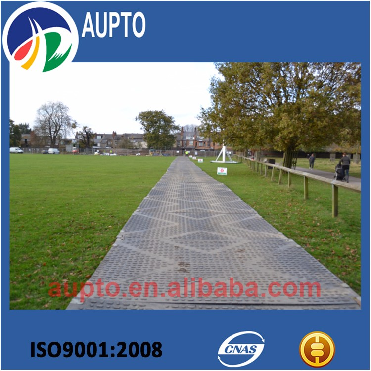 Textured HDPE plastic ground mat / Turf protection mat / Tent flooring mat