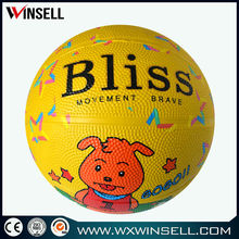 cheap rubber custom basketball no minimum order