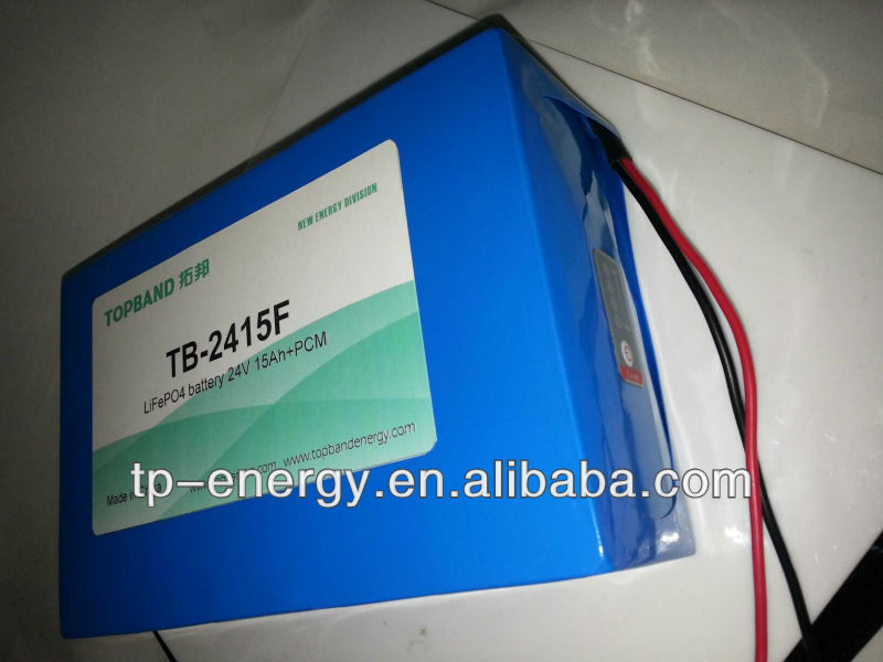 24V 15Ah battery LiFeO4 LFP battery