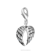 Eudora Wholesale Angel Wing Charm Bracelet 925 Sterling Silver Plated Bracelet Charms T1026
