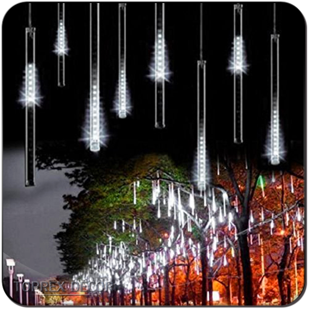 Tree Decorative Lights Outdoor LED Christmas Meteor Shower Light