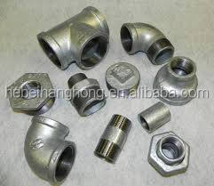 "GALVANISED MALLEABLE IRON PIPE FITTINGS CONNECTORS JOINTS 1/2"" TO 4"" INCH BSP"