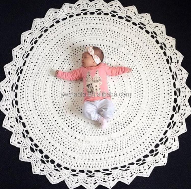 Fábrica De La Venta Directa De 120x120 Cm Grande Redondo Crochet ...