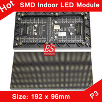 3mm Indoor SMD2121 RGB LED Display Module 192mm x 96mm ,64*32 Pixle / HD Video,Images,Picture P3 LED Module /Digital Wall Clocks