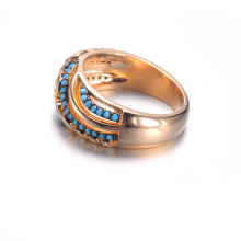 2019 latest design yellow gold plated rings jewelry for women
