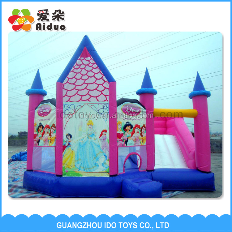 2016 Cute Kids Girl Games Loving Outdoor Inflatable Bouncer Castle
