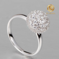 New arrival solid silver dandelion design charm jewelry ring for party