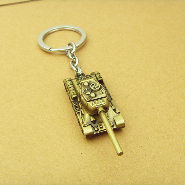 Wot Game World of Tanks Bullet KeyChain pendent keyring gift key chain ring holder for car porte clef llaveros warcraft for fans