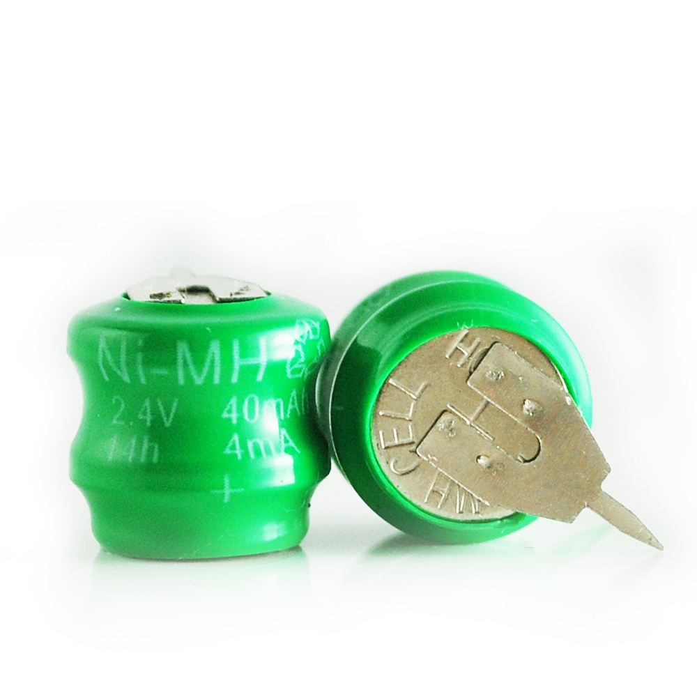 2.4v button cell battery pack in NI-MH rechargeable battery type