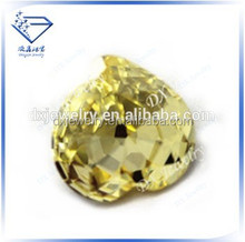 2015 Hot selling attractive jewelry Blink heart cut cz stone yellow lab created loose gemstones cubic zirconia