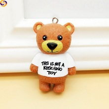 2018 Wholesale polyresin mini teddy bear key chain