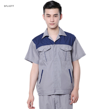 Color splicing unisex working uniform dress workwear