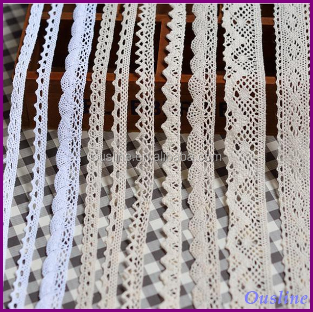 wholesale 21 styles cotton lace trim cotton trim, embroidery cotton lace trim