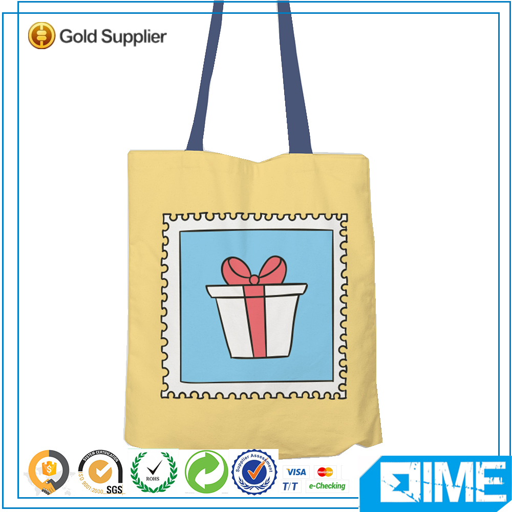 Cute Present Box Plain Canvas Blank Shopping Tote Bag