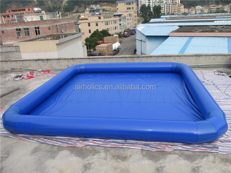 funny swimming pool games blue inflatable kids ball pool for sale