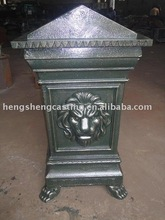 high quality popular antique metal dustbin with cover