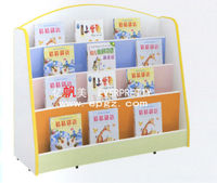 Cute Design MDF Kids Book Shelf for Kindergarten, Nursery School Furniture