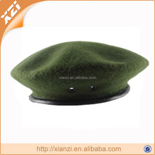 bottle green wool cheap High quality custom military wholesale beret