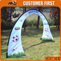 Promotional Dye Sublimation Printing Solid Chromed Steel Base Stake Model Airplane Race Gate