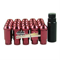 Universal 48mm steel Red wheel locking lug nuts m12