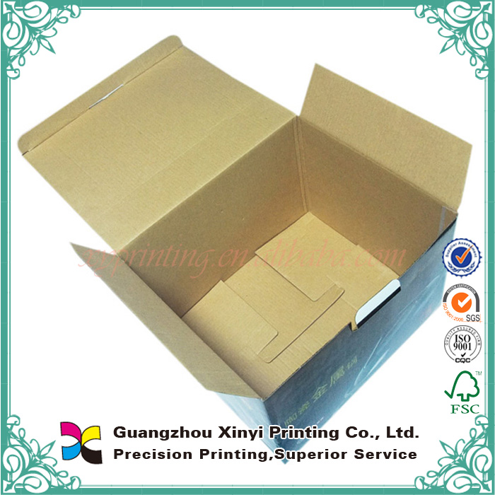 Hot sale customized high quality folding cardboard cheap corrugated paper wine box