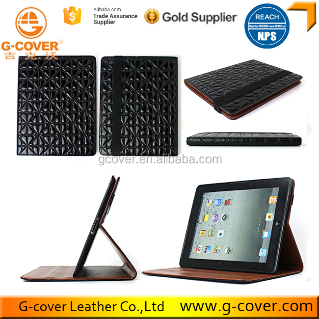 Top Quality Leather TPU Tablet Flip Case for Ipad 2 3 4 case cover
