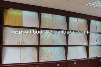 insulated gypsum ceiling tiles with latest design