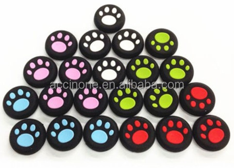 Cat Claw Footprint style Silicone Analog Thumb Stick Grips Controller Cap Caps Cover for PS4 PS3 XBOX ONE 360 Controller