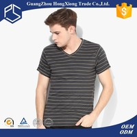 Custom round neck bulk striped t shirts