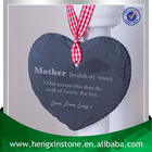 Handmade Personalised Laser Engrave Design 10*9*0.5cm Heart Shape Hanging Black Natural Slate Art Craft