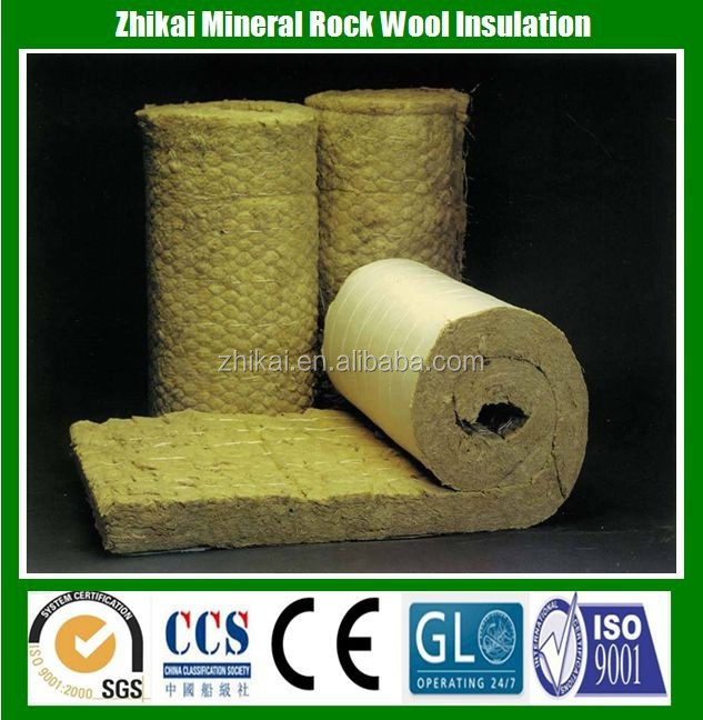 High Density 120kg/m3 fire insulation rock wool batts