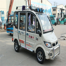 newest closed cabin passenger energy four wheel electric