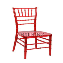 Wholesale Stacking red color acrylic furniture plastic chiavari Chair