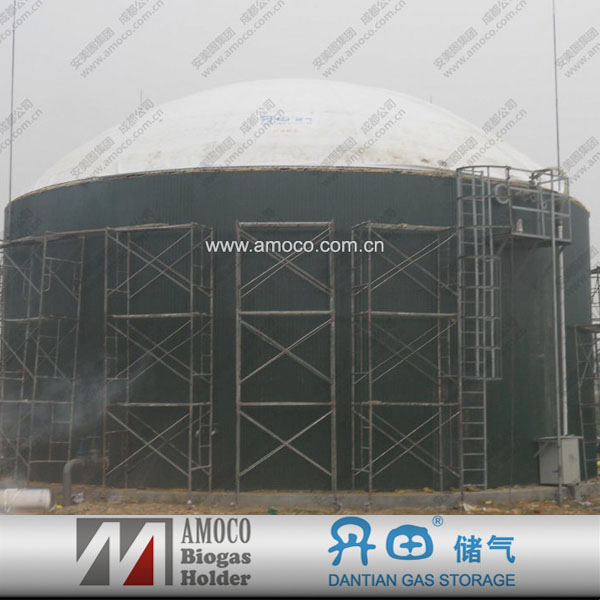 AMOCO waste water treatment plant with bioreactor tanks for poultry farm generate electricity power