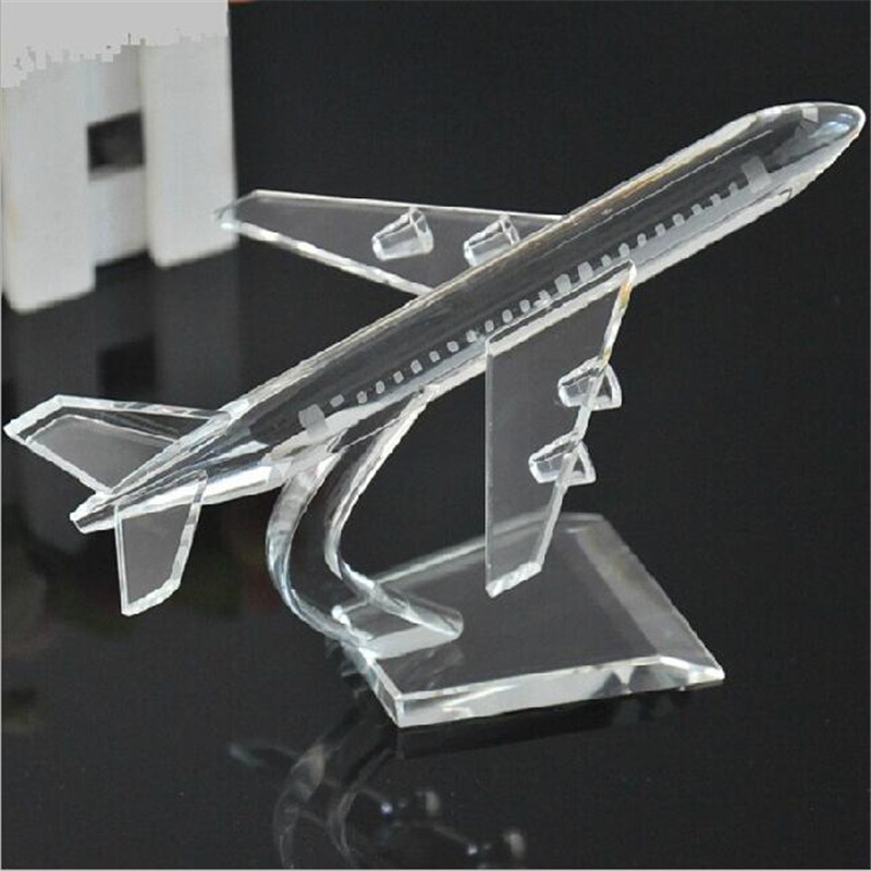 K9 glass crystal plane shape paperweight 3d laser engraved birthday souvenir business gifts crystal airplane model