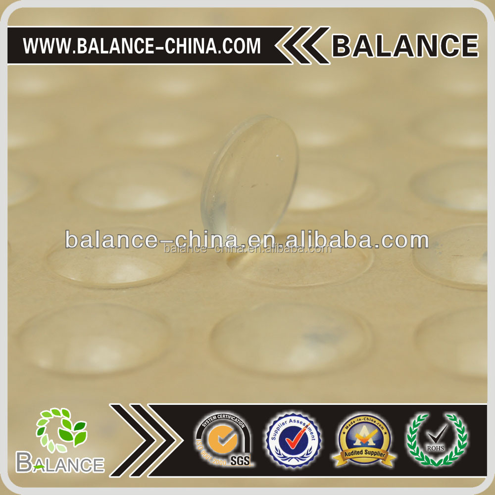 Transparent Rubber bumper feet silicone dot