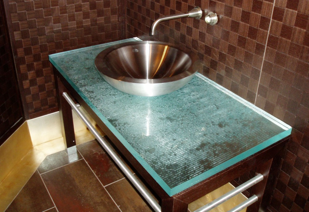 Granite Kitchen Translucent glass countertops