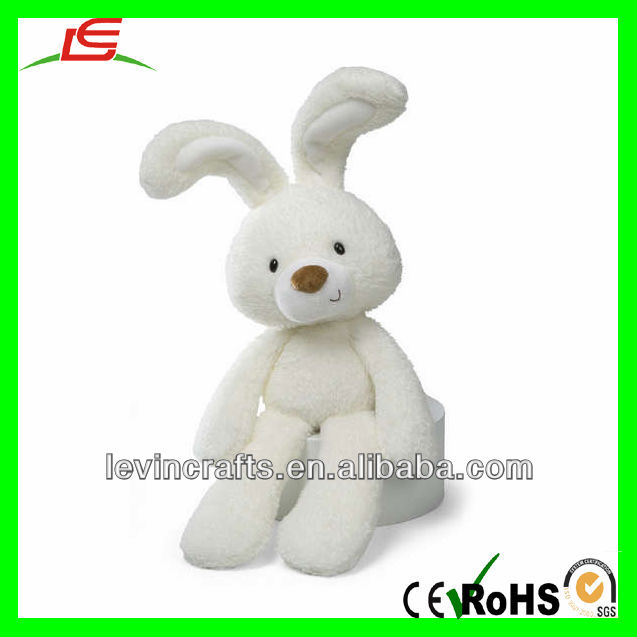 plush fuzzy white bunny toy rabbit stuffed 18""
