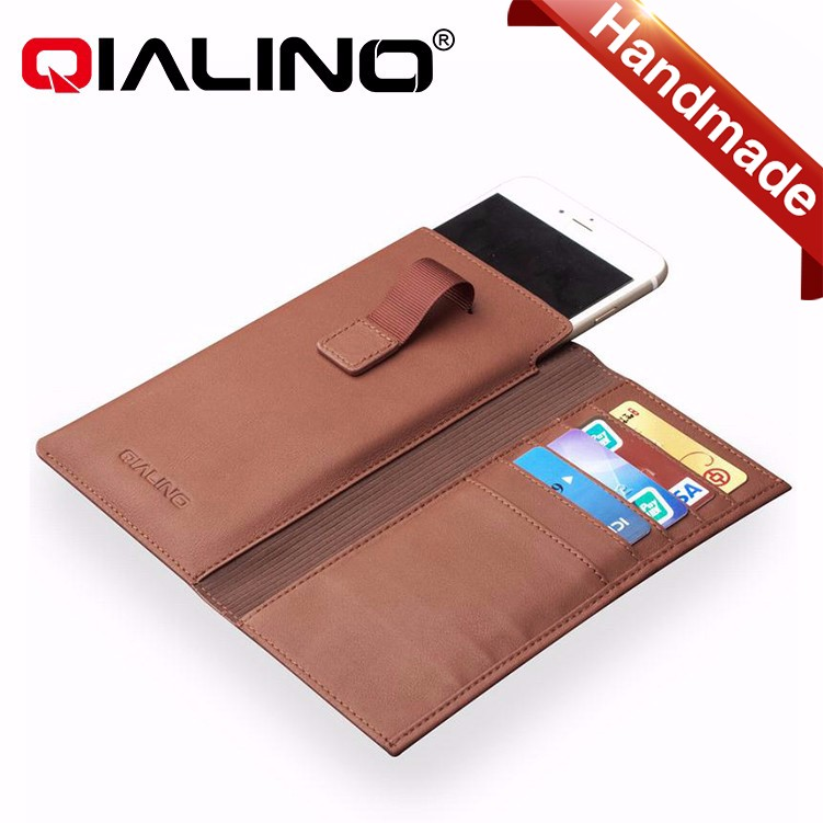 QIALINO 2016 Top Quality Flip Wallet leather case For iPhone 6 With Business Card holder, Hard Back Cover For iPhone 6 plus
