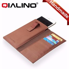 QIALINO Top Quality Flip Wallet leather case For iPhone 6 With Business Card holder, Phone wallet For iPhone 6 plus