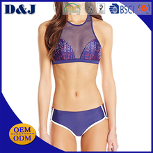 Latest Sexy Girls Sling Sublimation Back Zipper Transparent Bikini Swimwear and Beachwear