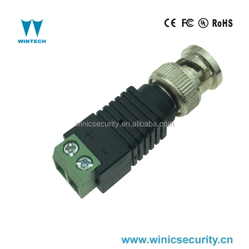 cctv accessories male conector bnc with terminal screws