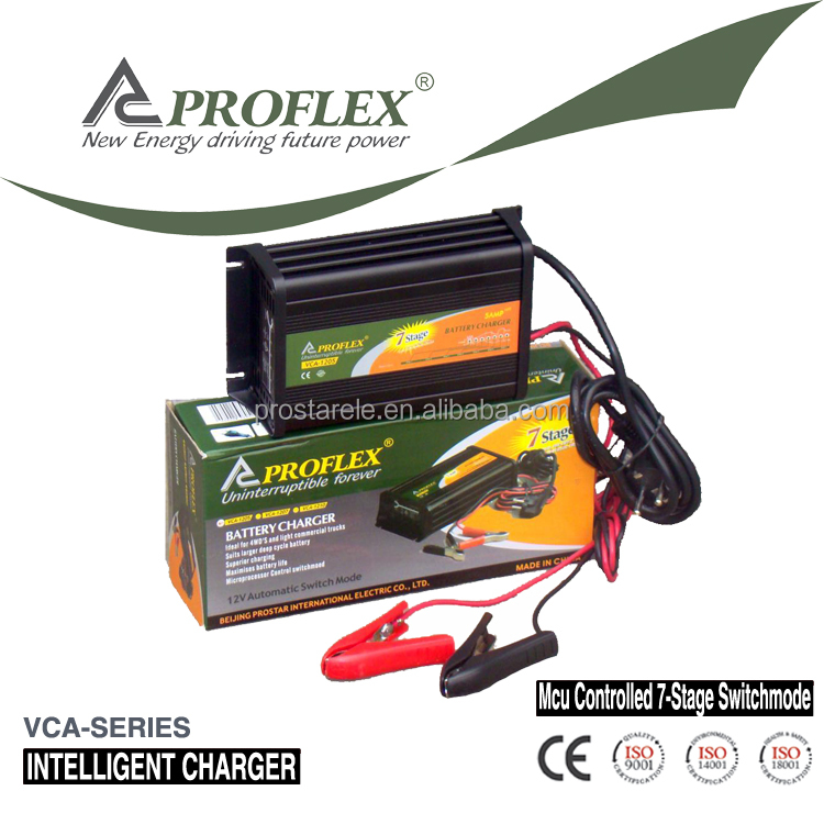 PROFLEX CE/CB/RoHS certificate 24V 5A 7 stage automatic charging battery charger