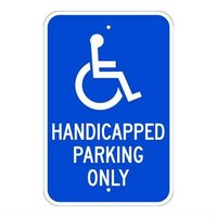Brady 115576, Traffic Sign, Engineer Grade, RESERVED PARKING HANDICAP ONLY w/PICTOGRAM