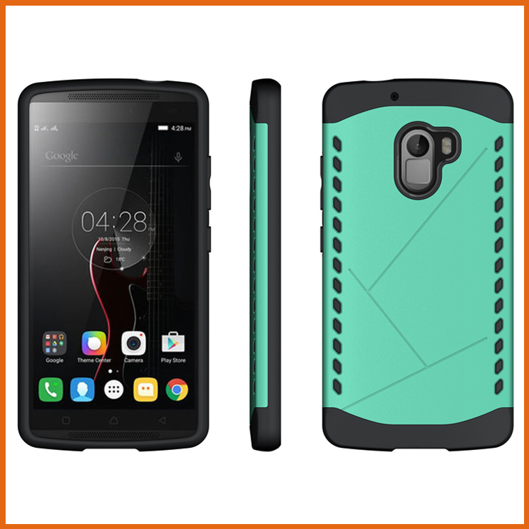 Factory combo tpu pc bumper stand case cover for lenovo vibe x3 lite